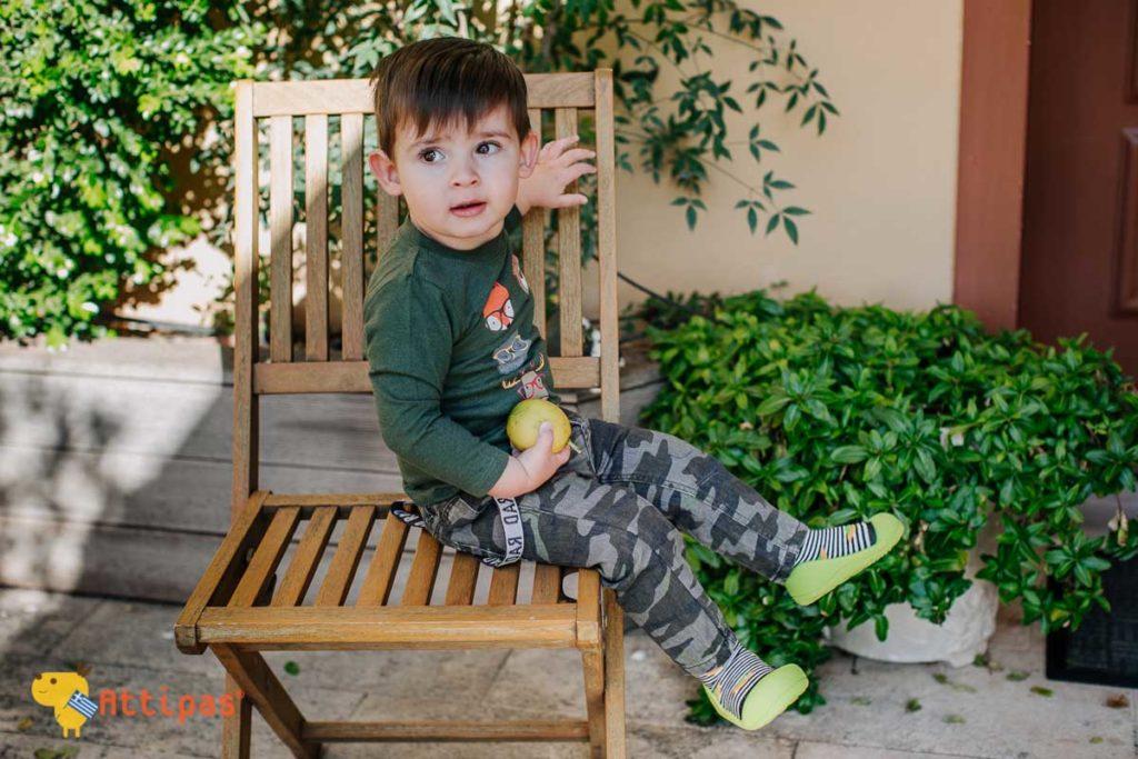 ανατομικά παπούτσια για βρέφη και παιδιά Attipas UFO Black
